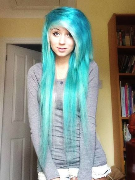 Best 25 blue hair extensions ideas on pinterest mermaid hair for some reason i hve always loves scene or emo hair one of the things pmusecretfo Gallery