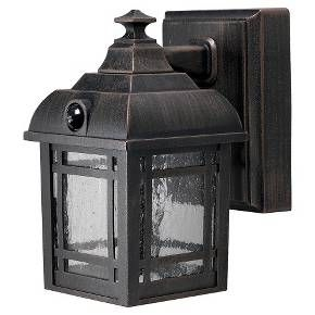 A true gem for any outdoor lighting needs, the Craftsman Sensor Light from Light It! is sure to make a statement, while also making sure your outdoor spaces are well lit for protection against intrusion. This light comes in a rustic bronze finish and is easy to install on any flat surface. You can use standard floodlights or high-efficiency LED bulbs to save energy.