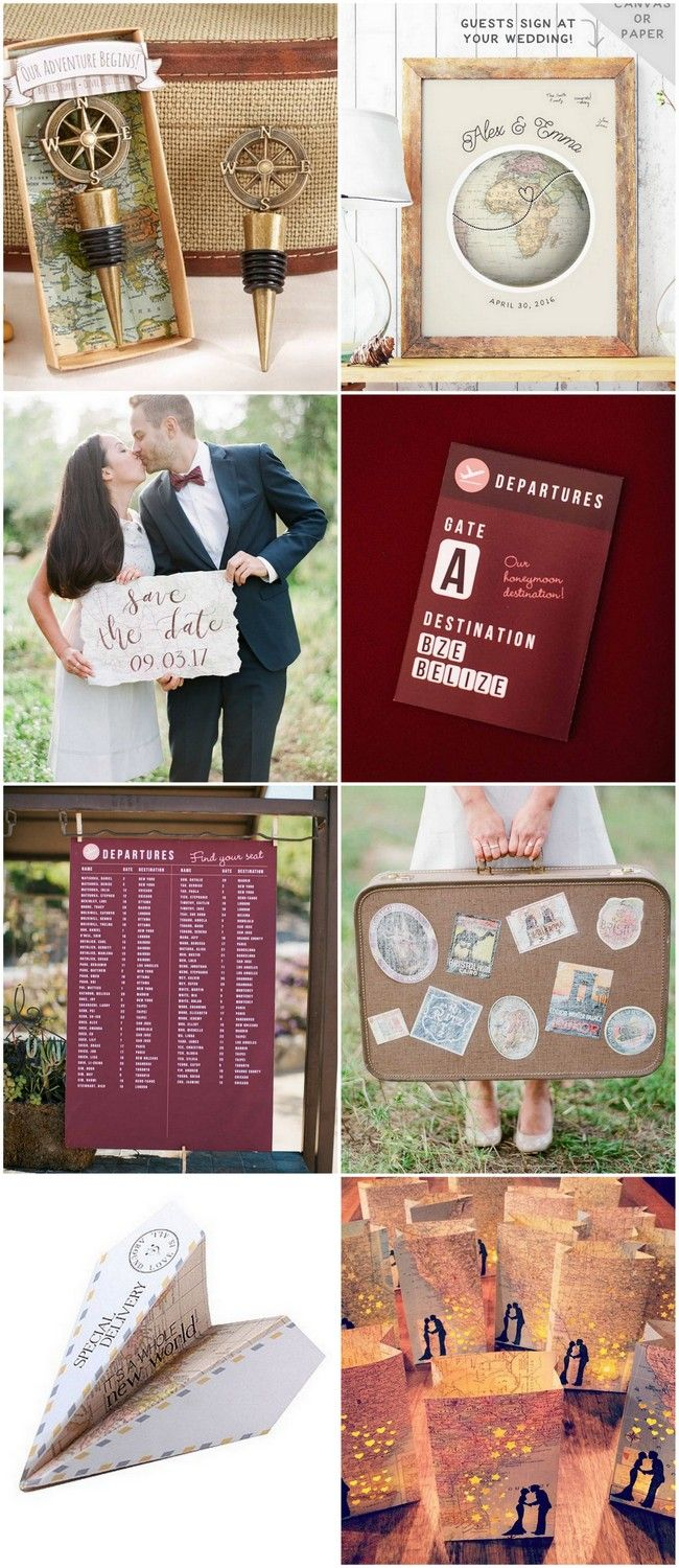 20 Stealworthy Affordable Travel Themed Wedding