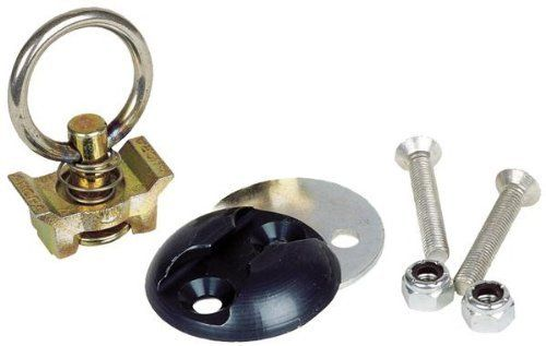 Ancra 40890-10 Silver Tie Down Bolt-On Fitting Kit by Ancra. Save 9 Off!. $12.69. Ancra Bolt-on Fitting Kit is a quick disconnect fitting that can be installed in a pick-up bed, trailer or van. Fitting disengages completely from the contoured anchor plate. Anchor Plate machined from aluminum extrusion. Backing plate to add support to truck or van beds and walls. The fitting is an aircraft quality single stud fitting with ring. Working load capacity is 500 pounds horizontal pull, 1,000 pou...