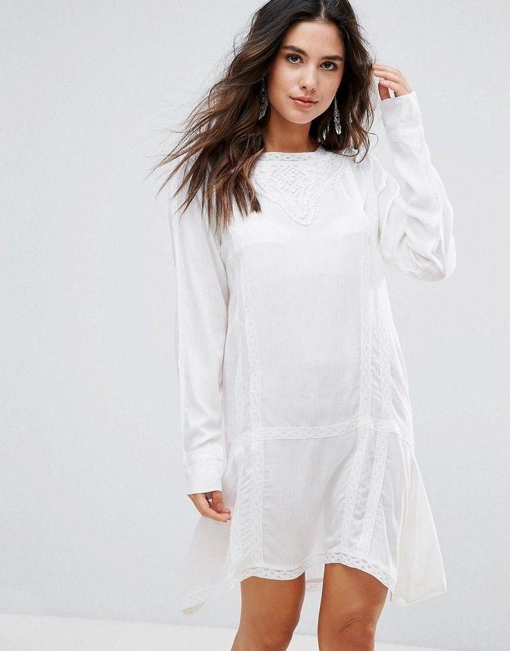 ¡Consigue este tipo de vestido informal de Anmol ahora! Haz clic para ver los detalles. Envíos gratis a toda España. Vestido de playa largo con bordados de Anmol: Vestido de playa de Anmol, En un acabado de tejido ligero, Cuello redondo, Bordes de encaje, Manga larga, Corte estándar - se ajusta al tallaje real, Lavar a máquina, 100% viscosa, Modelo: Talla UK 8/EU 36/USA 4; Altura de 173 cm/5'8 (vestido informal, casual, informales, informal, day, kleid casual, vestido informal, robe info...