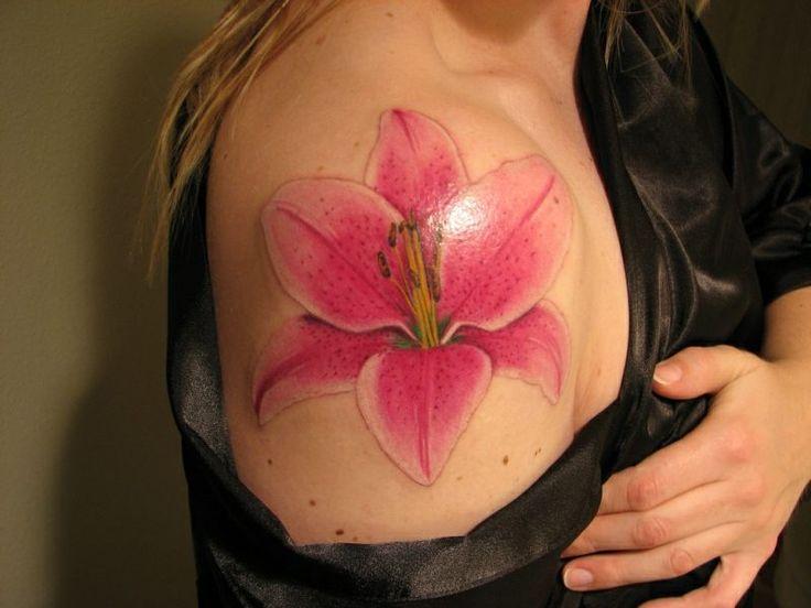 die besten 25 lilien tattoo ideen auf pinterest. Black Bedroom Furniture Sets. Home Design Ideas