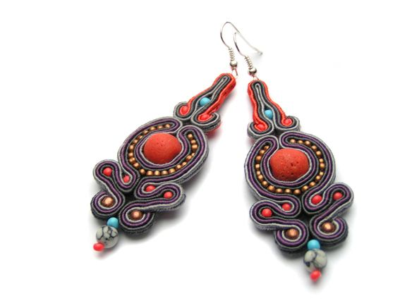 Sutasz-Anka: India 2 earrings http://www.soutage.com/2013/01/india-2-kolczyki.html