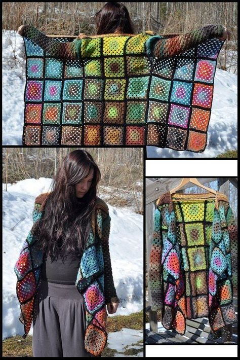 Child's Granny Square Jacket Pattern