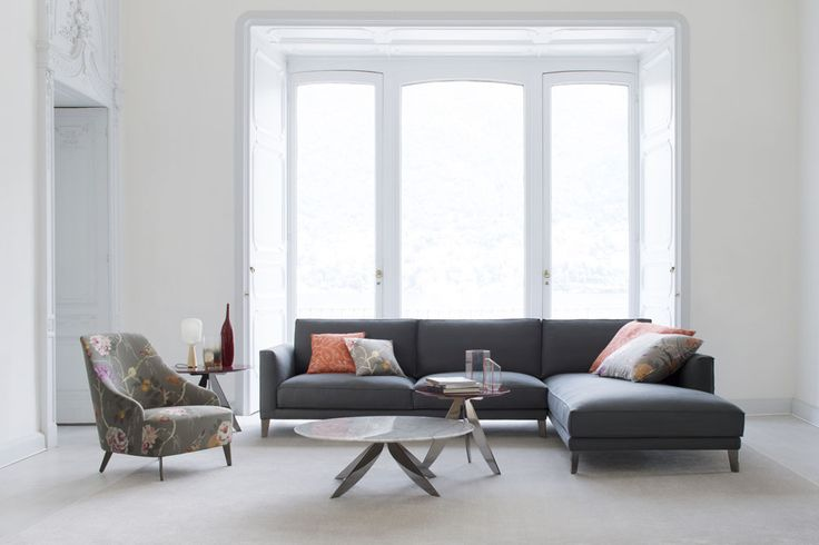 Time Break sectional sofa and Emilia armchair. #ateliercollection