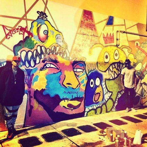 chris brown art and graffiti image