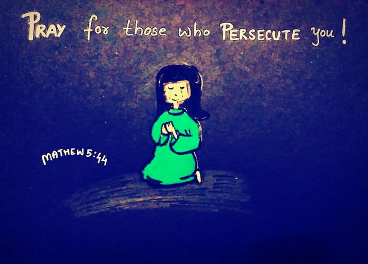 🙏Pray for those👈🏻who persecute 😢you! Mathew 5:44😊  Bible art by Sneha Mary Johns