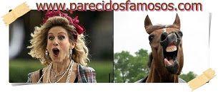 Parecidos con famosos: Sarah Jessica Parker otra foto con caballo