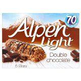 Alpen Light Bars Double Chocolate5 x 19g