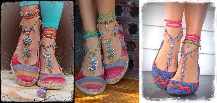 Готовимся к летнему сезону. Идеи для украшения обуви и ножек.: boho_area