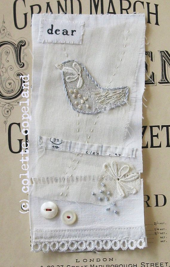 Textile+art+mini+art+quilt+stitched+and+by+ColetteCopeland+on+Etsy,+$40.00