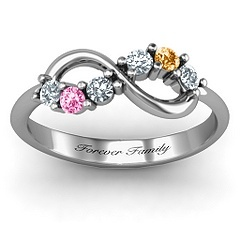 Forever Family Ring with birthstones