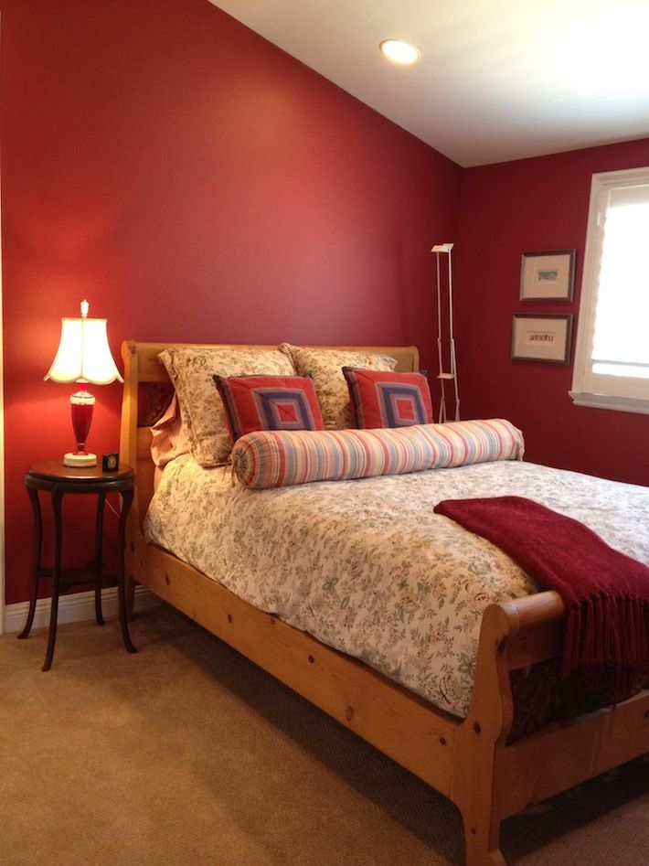 17 best ideas about red bedroom walls on pinterest red for Red master bedroom designs
