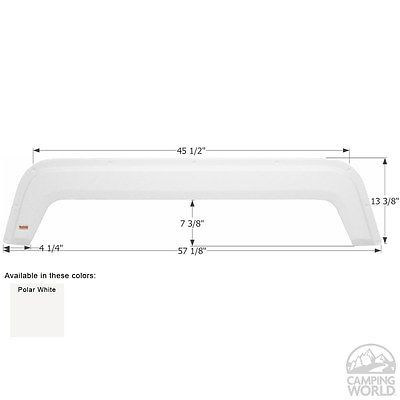 Fleetwood 5th Wheel Travel Trailer Fender Skirt FS1881 - Polar White