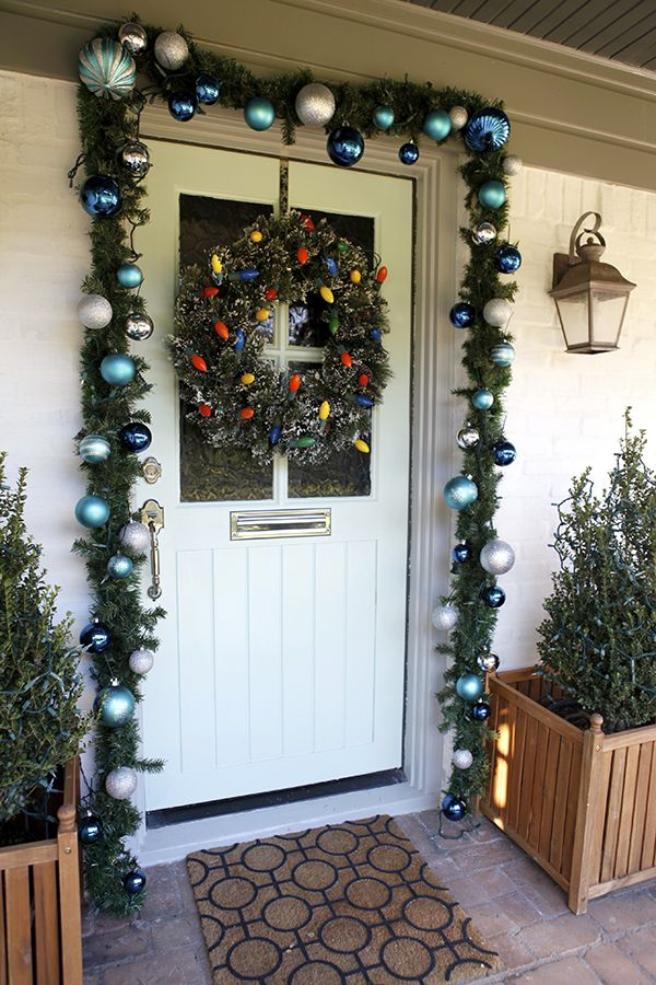 Diy Christmas Decoration For Doors : Best images about diy christmas door decorating ideas