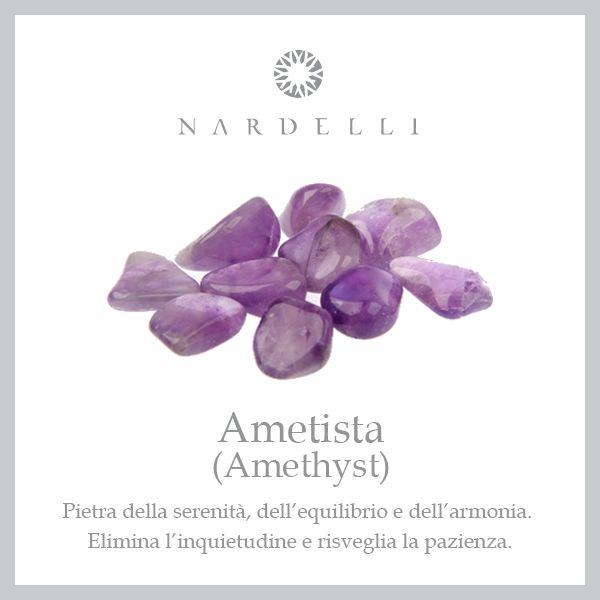 L'#ametista è la pietra dei nati di febbraio; è magnetica e affascinante, ideale per superare i momenti di tristezza.