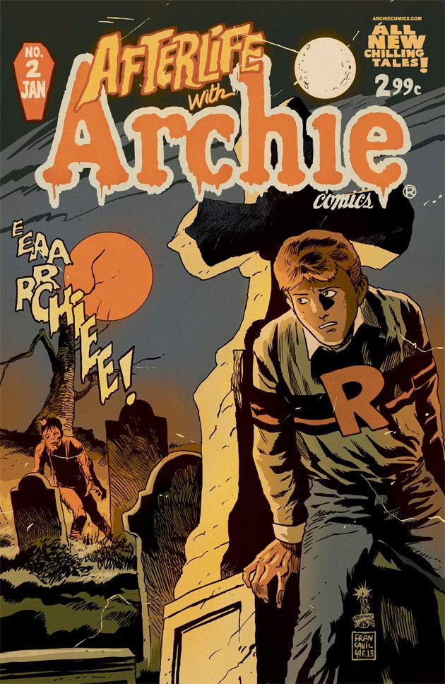 Loving this take on Archie by artist Francesco Francavilla for the upcoming Afterlife with Archie