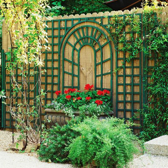 trellis wall down hill garden trellis design ideas