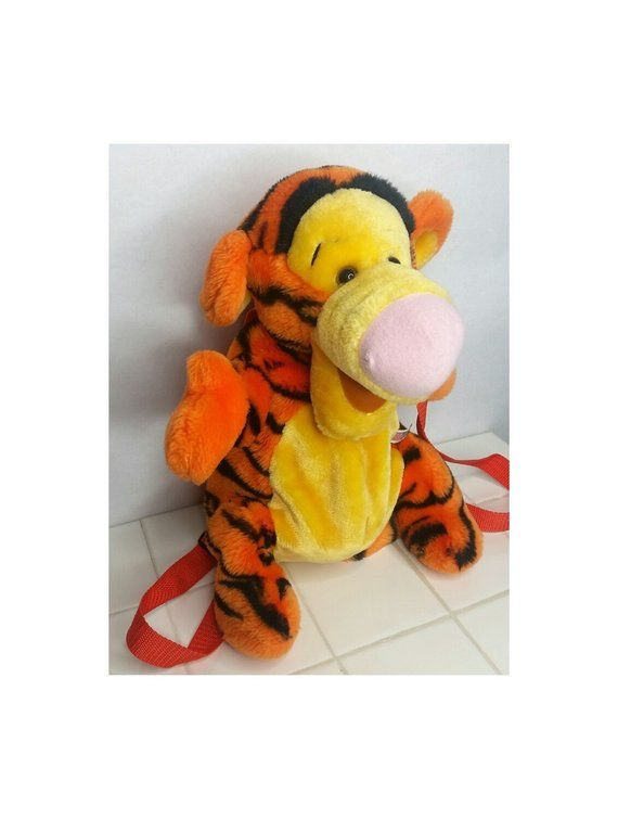 c14278abc56 Vintage Tigger Plush Backpack Disney Winnie The Pooh Backpack Orange 90s Kid  Nostalgia Clothes Clothing Bag Gift