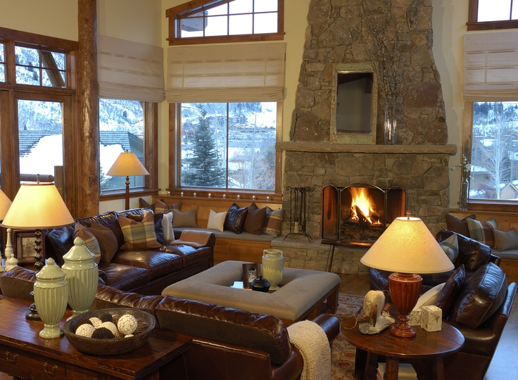 Beautiful Mountain Home Interior Design Done By Lisman Studio That Fireplace Would Be A Great