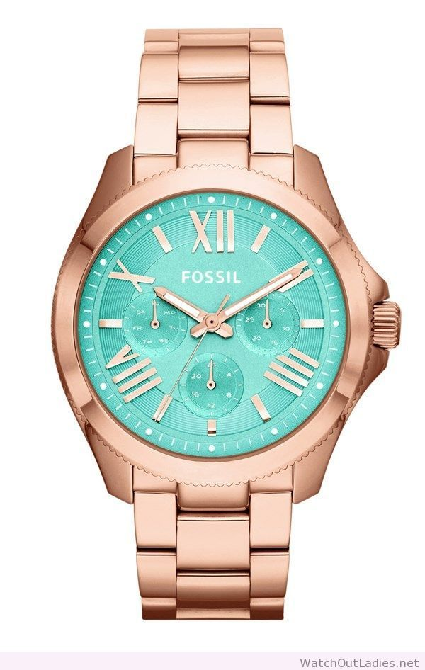 This stunning rose gold and mint watch is on the wish list