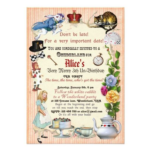 238 best Tea Party Birthday Invitations images on Pinterest Tea - birthday invitation design templates
