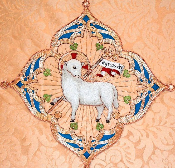 One of our favourite depictions of the Lamb of God: a Bodley design