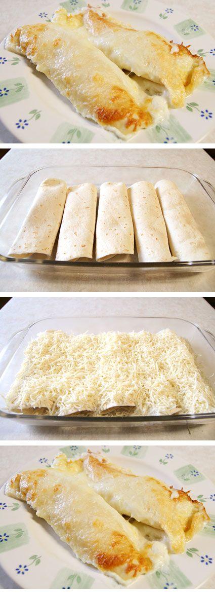 The best chicken enchilada recipe on Pinterest!!