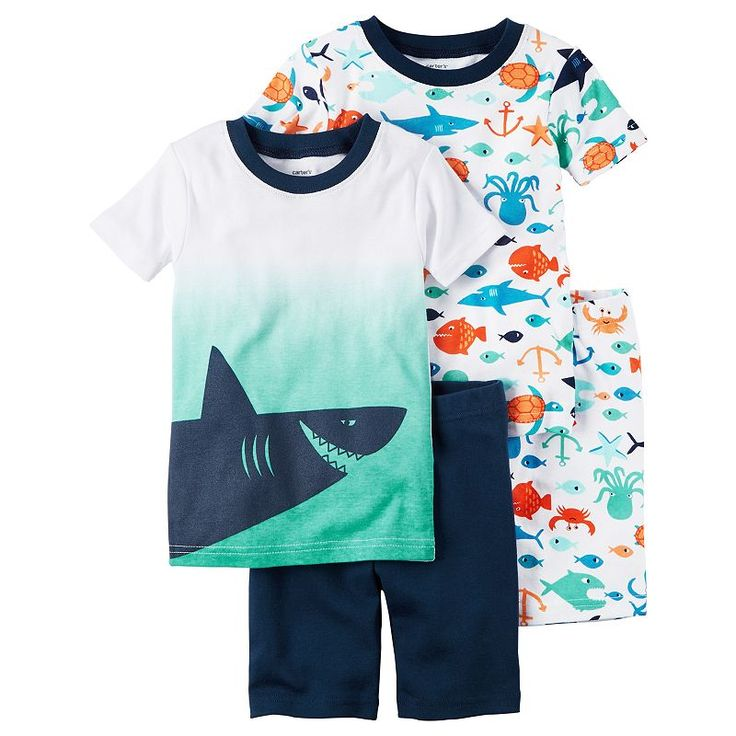 best boys pajamas sizes t to ideas boys  boys 4 12 carter s shark 4 piece pajama set size 5