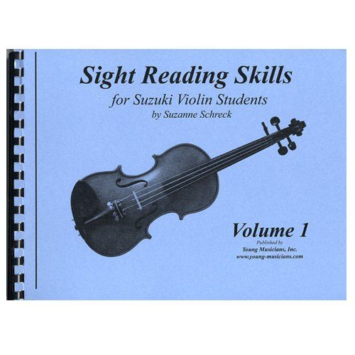 """Sight Reading Skills for Suzuki Violin Students - Volume 1 (Sight Reading Skills For Suzuki Violinist, Volume 1):   Music reading is most easily, and most enjoyably, learned if it is taught when the child is developmentally ready. """"Sight Reading Skills"""" by Suzanne Schreck is for Suzuki violin students. This method of reading is designed to develop the young student's ability to read music. If the melodies are recognizable, Suzuki students will play them by ear, not by sight. An effecti..."""