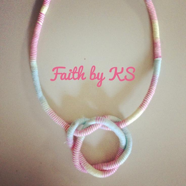 DIY pastel necklace Faith by KS