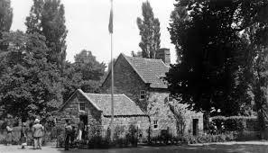 treasury gardens outdoor art show melbourne 1960 - Captain Cook's cottage...love it!