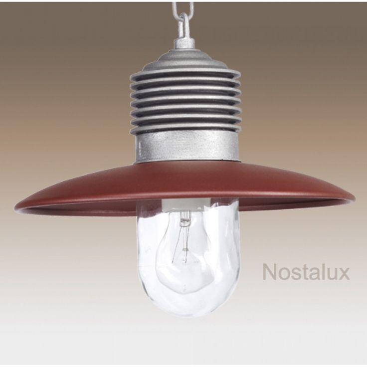 Ampere ketting Alu./Rood   Robuuste kettinglamp, geleverd met ketting (50cm). De deksel is in een trendy kleur rood uitgevoerd. De lamp beschikt over een E27 fitting en is dus LED geschikt. Staat prachtig onder bijvoorbeeld een veranda of prieel. Ook zeer geschikt voor uw buitenkeuken.   Al onze producten zijn CE gekeurd en hebben minimaal 3 jaar fabrieksgarantie.
