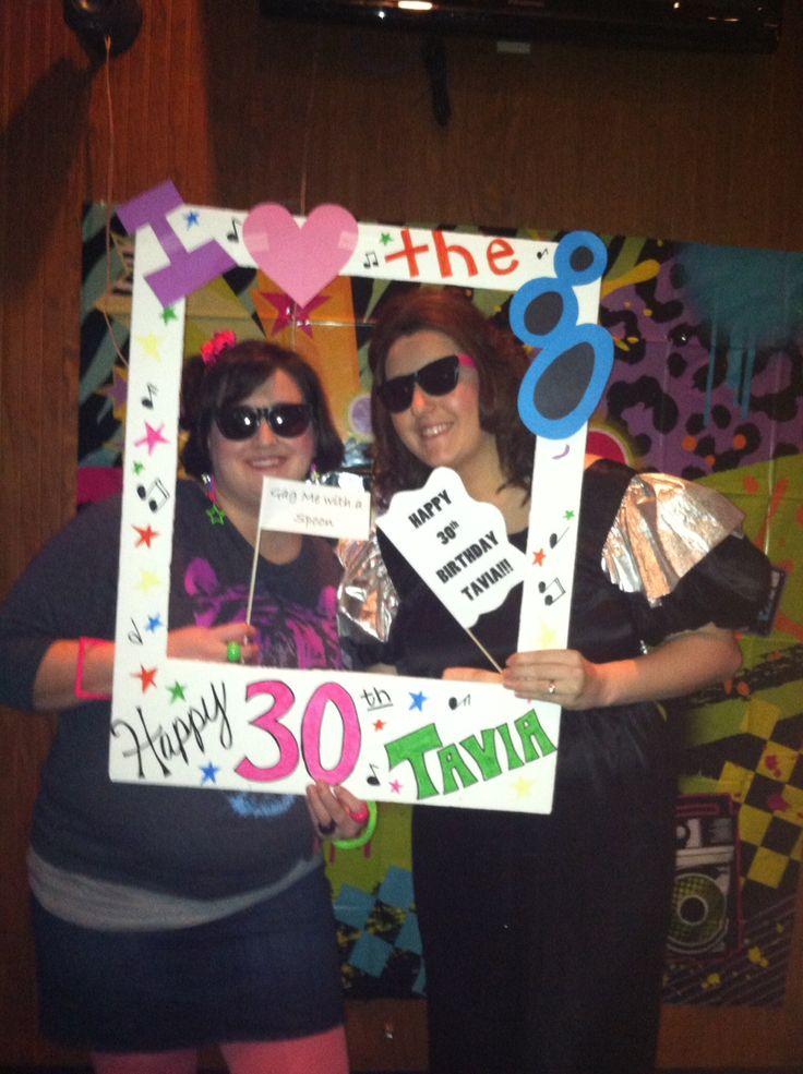 Polaroid frame 80's party