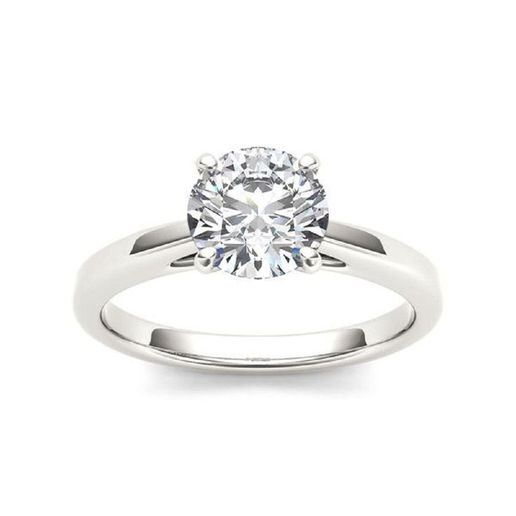 Awesome Diamond VVS1 Solitaire Round Cut 14k White Gold 1.97 ct Engagement Ring #GoldJewellery17 #Solitaire