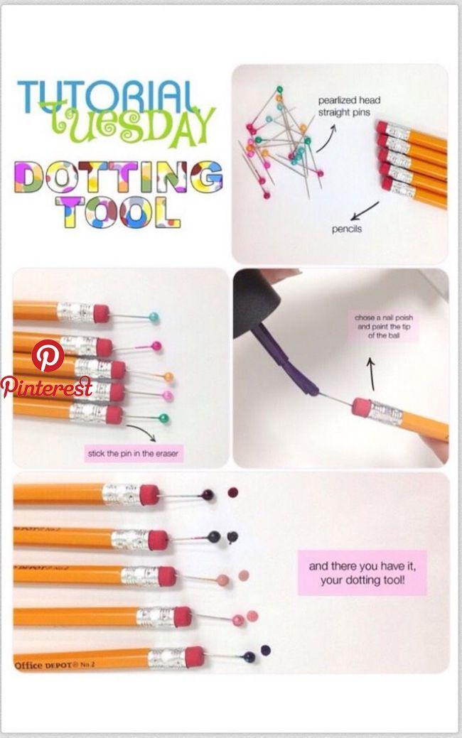 Make Your Own Dotting Tool Make Your Own Dotting Tool Pinner Username Glamgirlfabulou Dot Painting Tools Nail Art Dotting Tool Dotting Tool