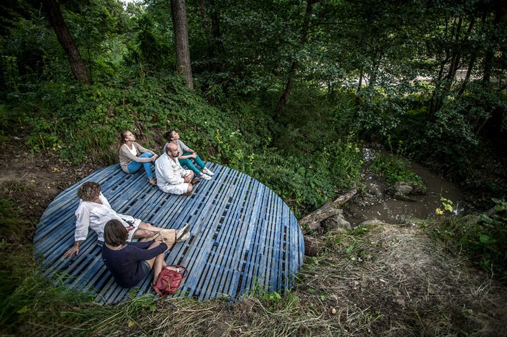 studio nomad and batlab architects' blue meditation point in romania