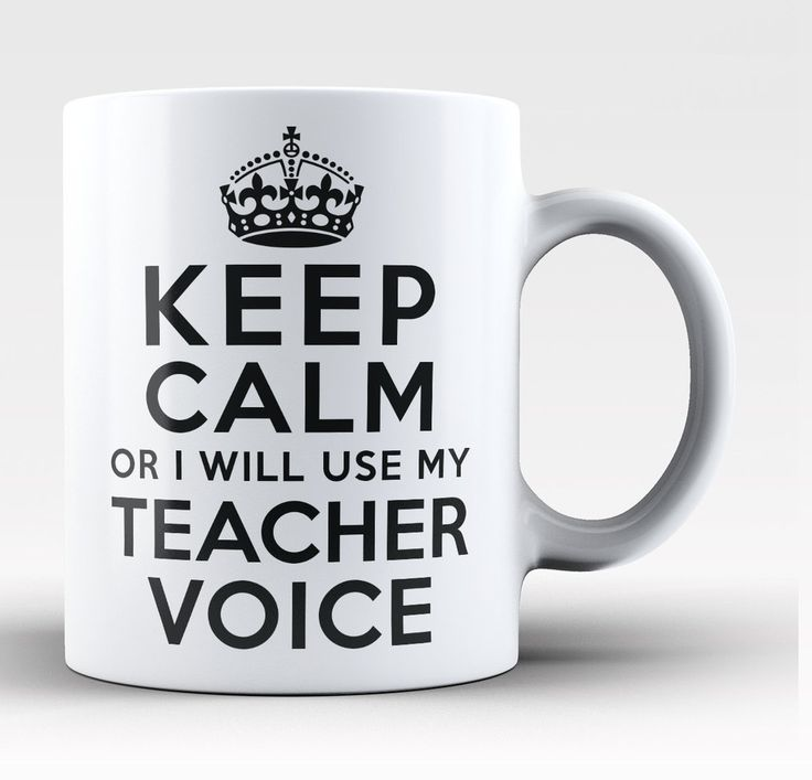 Keep Calm Teacher Voice Coffee Mug