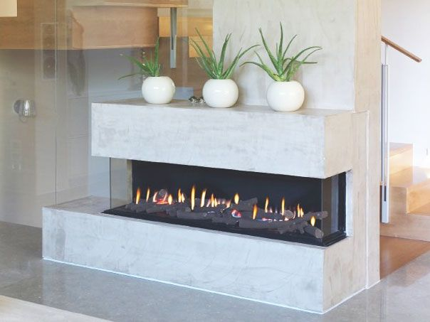 16 best images about 3 sided fireplace options on for Modern gas fireplace price