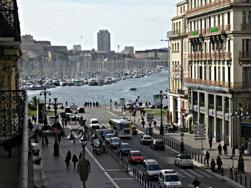 La Canebiere in Marseille, France, where some of the action in the book takes place