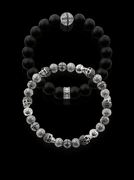 For real rebels: THOMAS SABO bracelets made from SterlingSilver and Obsidian. www.thomassab.com