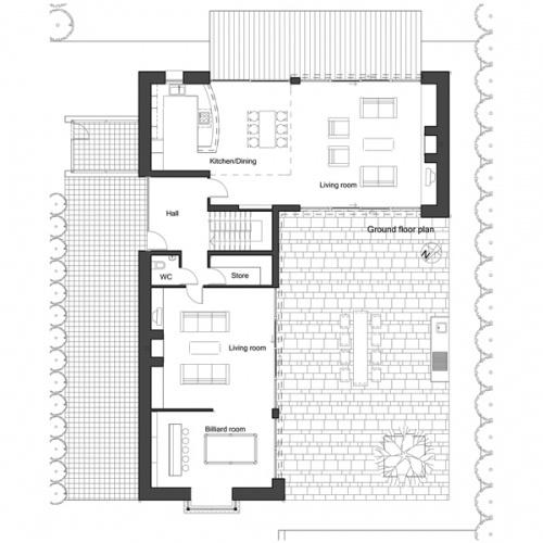 L Shaped House Plans Pinterest