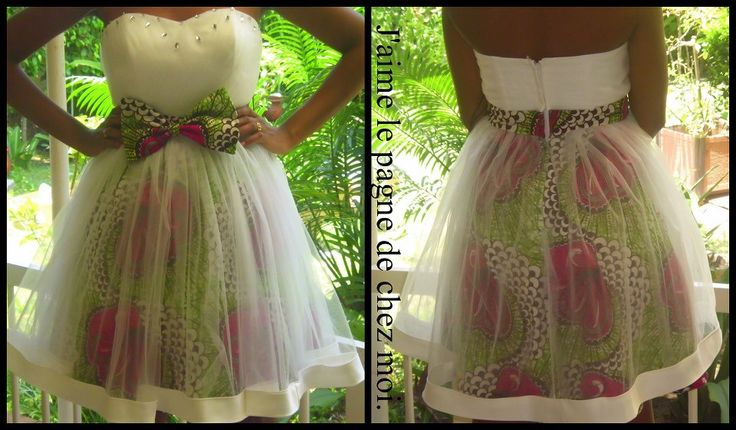 African print short dress covered in tulle.... Awesome!