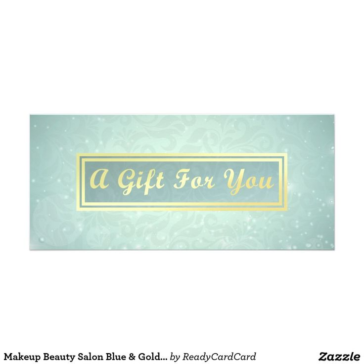 Makeup Beauty Salon Blue & Gold Gift Certificate