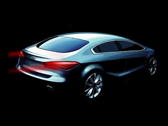Kia Cerato Design Sketch (2013)
