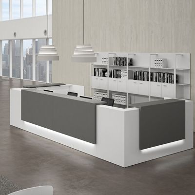 modern office interior. reception desks contemporary and modern office furniture interior