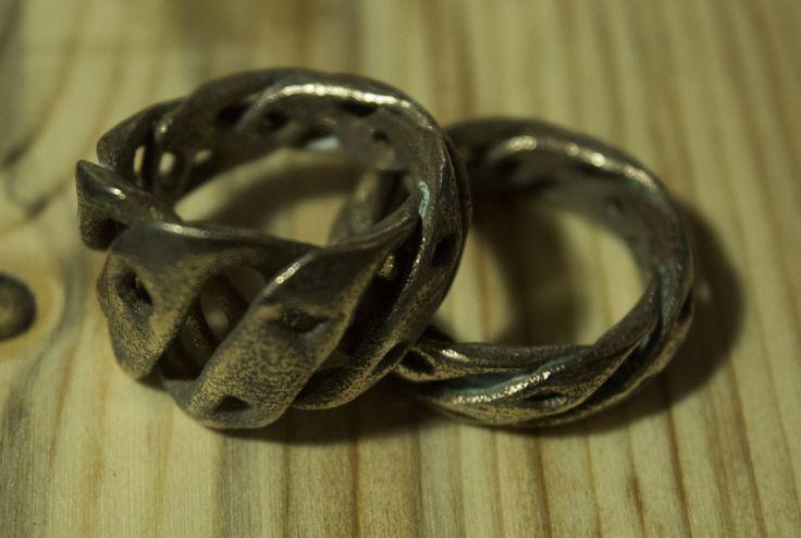 3D Printed Rings, Stainless Steel #jewellery #3DPrinted