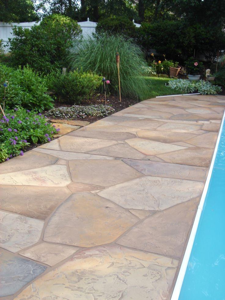 Cement Patio Designs Stained Concrete Floor Designs: 21 Best Concrete Patios Images On Pinterest