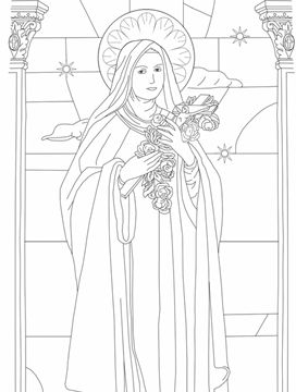 saint therese catholic coloring page the link is broken so you would have to