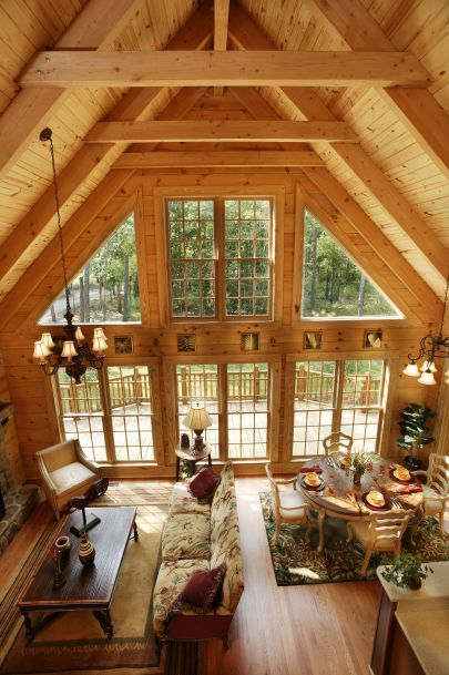 1000 images about dream study spot the cabin on for Log cabin open planimetrie